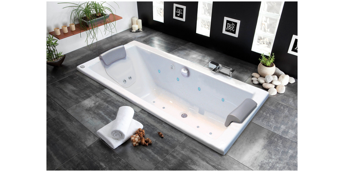 baignoire baln o haute qualit s rie quadra droite avec r flex. Black Bedroom Furniture Sets. Home Design Ideas