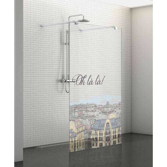 Paroi de douche fixe s rigraphi ohlala centrale ouverte for Paroi fixe pour douche italienne