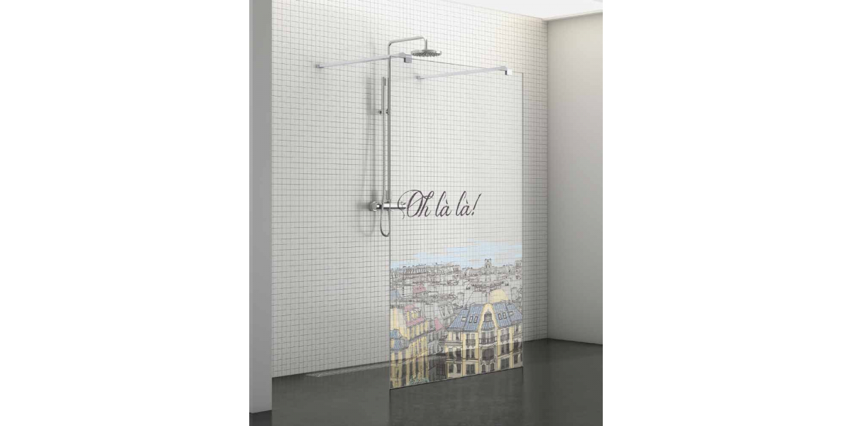 paroi de douche fixe s rigraphi ohlala centrale ouverte belus walk in sp cial douche italienne. Black Bedroom Furniture Sets. Home Design Ideas
