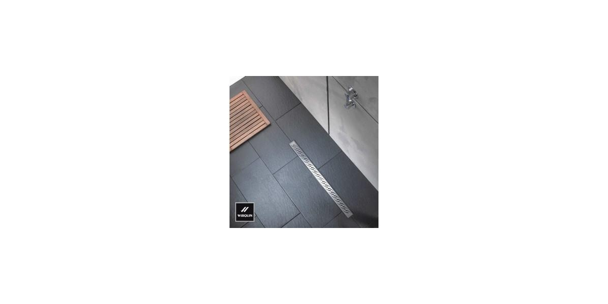 caniveau venisio 90 cm avec grille inox d cor. Black Bedroom Furniture Sets. Home Design Ideas
