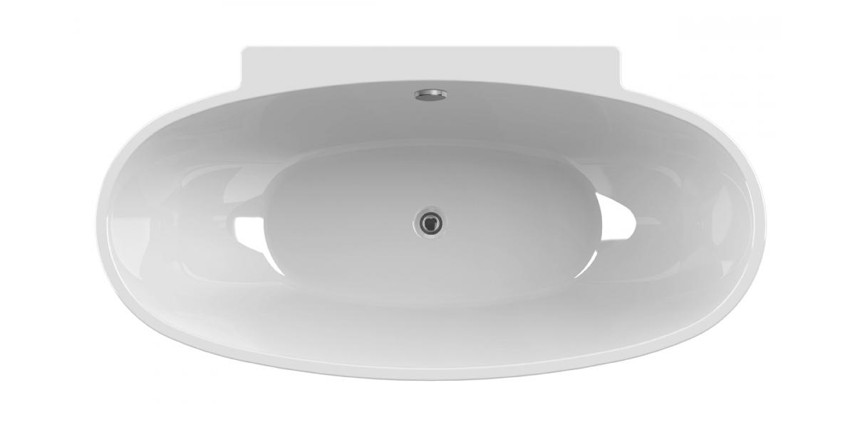 baignoire lot ovale agata 165 cm avec r flex. Black Bedroom Furniture Sets. Home Design Ideas