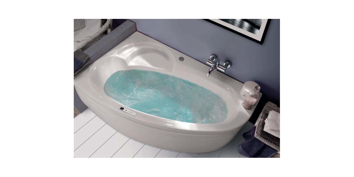 Baignoire baln o haute qualit s rie ladiva version droite avec r flex - Baignoire balneo discount ...