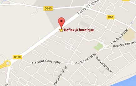 Plan google maps reflex toulouse